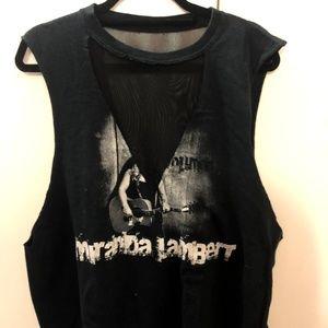 Miranda Lambert LF Sleeveless Mesh top